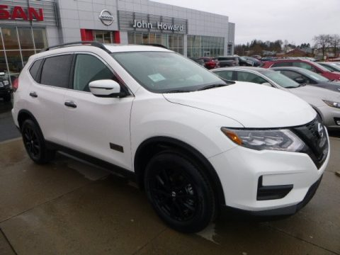 Glacier White Nissan Rogue SV AWD.  Click to enlarge.