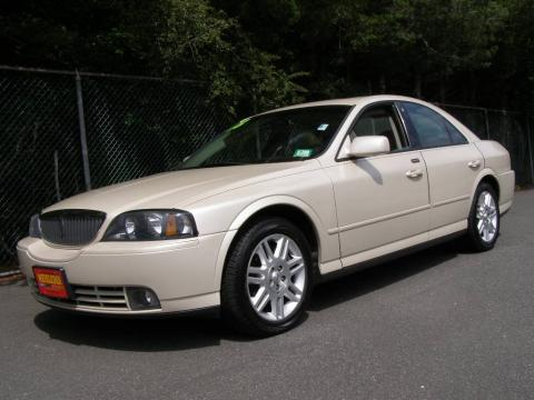 Ivory Parchment Metallic 2003 Lincoln LS V8 with Espresso/Medium Light Stone interior Ivory Parchment Metallic Lincoln LS V8. Click to enlarge.