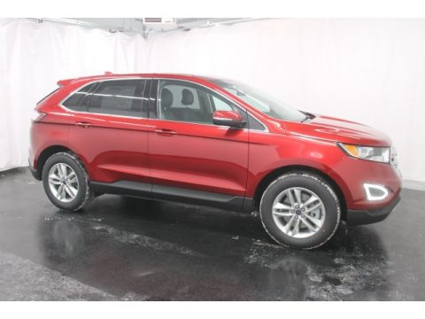 Ruby Red Metallic Ford Edge SEL AWD.  Click to enlarge.