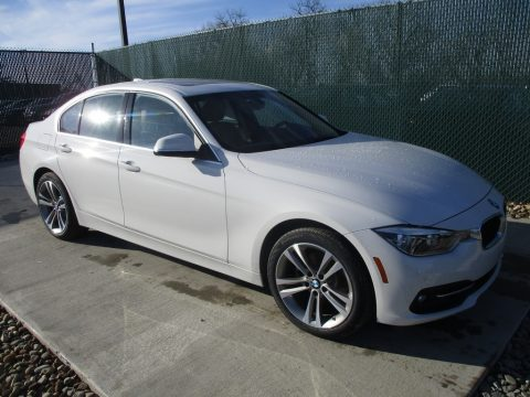 Alpine White BMW 3 Series 330i xDrive Sedan.  Click to enlarge.