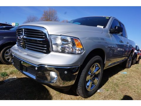 Bright Silver Metallic Ram 1500 Big Horn Quad Cab 4x4.  Click to enlarge.