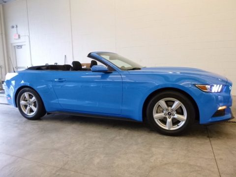 Grabber Blue Ford Mustang V6 Convertible.  Click to enlarge.