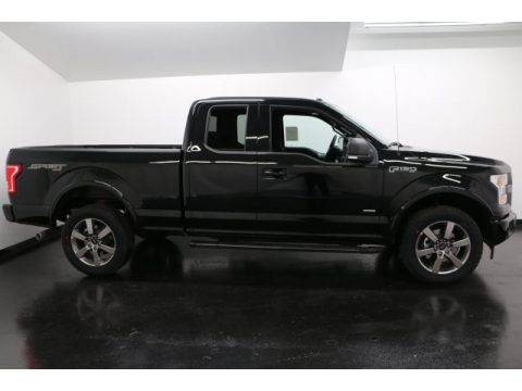 Shadow Black Ford F150 XLT SuperCab 4x4.  Click to enlarge.