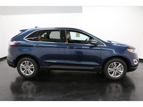 Blue Jeans Metallic Ford Edge SEL AWD.  Click to enlarge.
