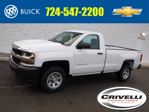 Summit White Chevrolet Silverado 1500 WT Regular Cab 4x4.  Click to enlarge.