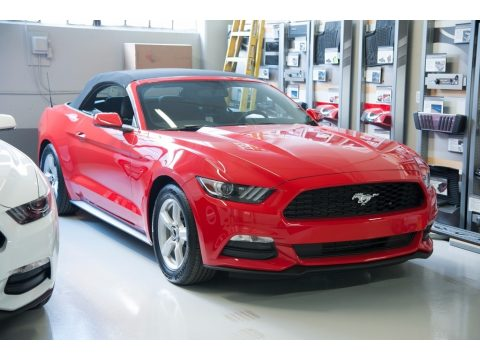 Race Red Ford Mustang V6 Convertible.  Click to enlarge.
