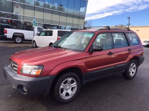 Cayenne Red Pearl Subaru Forester 2.5 X.  Click to enlarge.