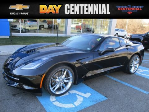 Black Chevrolet Corvette Stingray Coupe.  Click to enlarge.