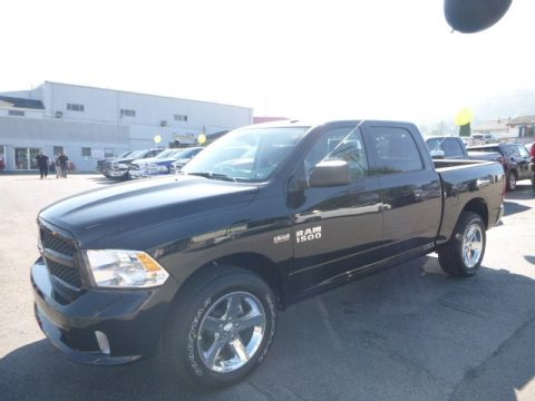 Brilliant Black Crystal Pearl Ram 1500 Tradesman Crew Cab 4x4.  Click to enlarge.