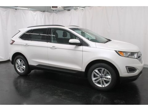 White Platinum Metallic Ford Edge SEL AWD.  Click to enlarge.