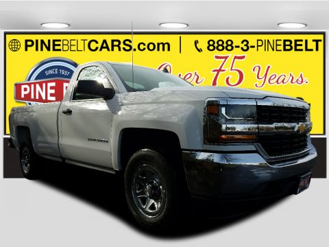 Summit White Chevrolet Silverado 1500 LS Regular Cab 4x4.  Click to enlarge.
