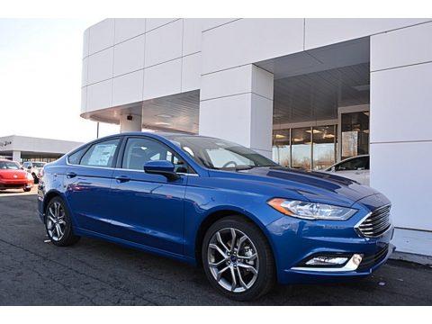 Lightning Blue Ford Fusion SE.  Click to enlarge.