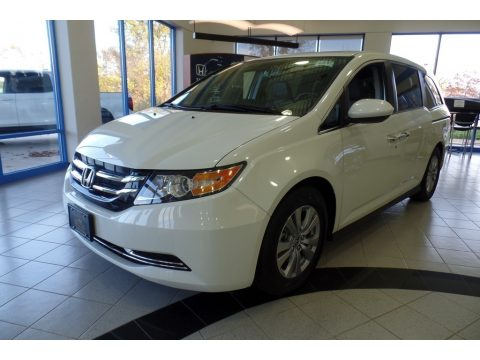 White Diamond Pearl Honda Odyssey EX-L.  Click to enlarge.