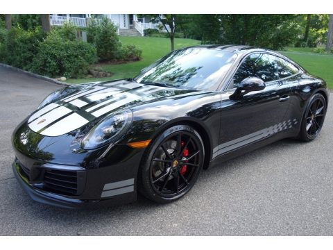 Black Porsche 911 Carrera S Coupe.  Click to enlarge.