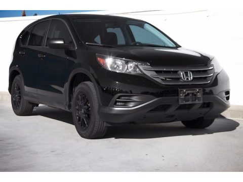 Crystal Black Pearl Honda CR-V LX.  Click to enlarge.