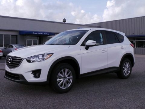 Crystal White Pearl Mica Mazda CX-5 Touring.  Click to enlarge.