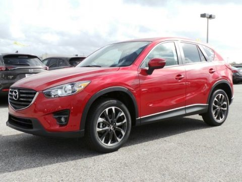 Soul Red Metallic Mazda CX-5 Grand Touring.  Click to enlarge.