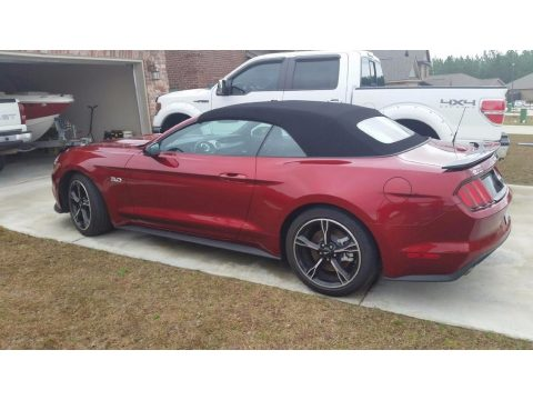Ruby Red Metallic Ford Mustang GT/CS California Special Convertible.  Click to enlarge.