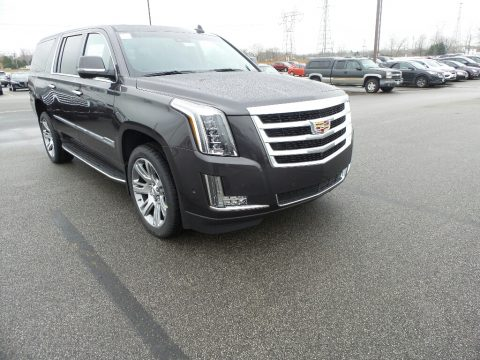Dark Granite Metallic Cadillac Escalade ESV Luxury 4WD.  Click to enlarge.