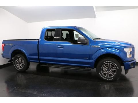Lightning Blue Ford F150 XLT SuperCab 4x4.  Click to enlarge.