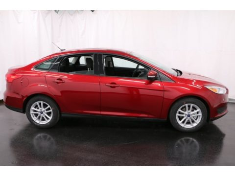 Ruby Red Ford Focus SE Sedan.  Click to enlarge.