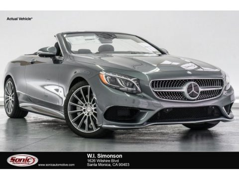 Selenite Grey Metallic Mercedes-Benz S 550 Cabriolet.  Click to enlarge.