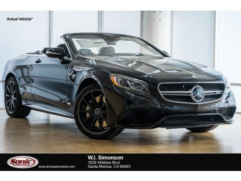 Obsidian Black Metallic Mercedes-Benz S 65 AMG Cabriolet.  Click to enlarge.