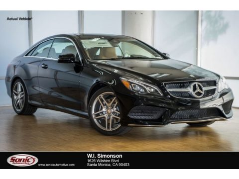 Black Mercedes-Benz E 400 Coupe.  Click to enlarge.