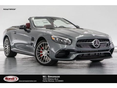 Selenite Grey Metallic Mercedes-Benz SL 63 AMG Roadster.  Click to enlarge.