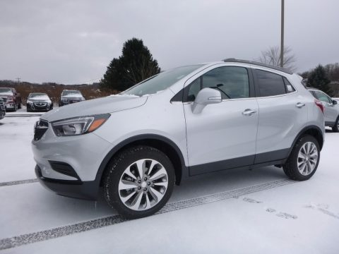 Quicksilver Metallic Buick Encore Preferred AWD.  Click to enlarge.