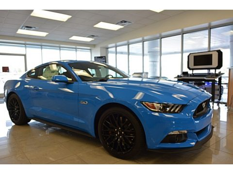 Grabber Blue Ford Mustang GT Coupe.  Click to enlarge.