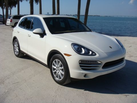 Sand White Porsche Cayenne .  Click to enlarge.