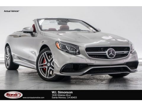 AMG Alubeam Silver Mercedes-Benz S 63 AMG 4Matic Cabriolet.  Click to enlarge.