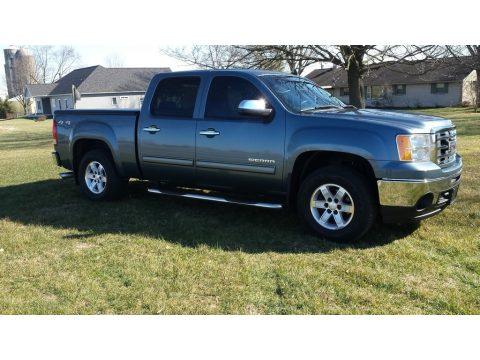 Stealth Gray Metallic GMC Sierra 1500 SLE Crew Cab 4x4.  Click to enlarge.