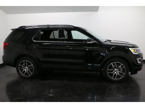 Shadow Black Ford Explorer Sport 4WD.  Click to enlarge.