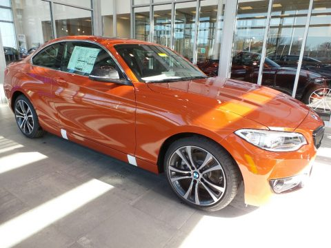 Valencia Orange Metallic BMW 2 Series 230i xDrive Coupe.  Click to enlarge.