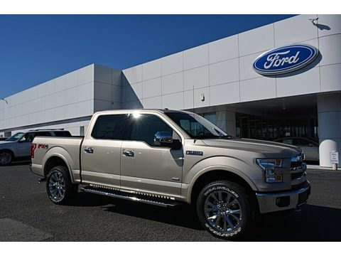 White Gold Ford F150 Lariat SuperCrew 4X4.  Click to enlarge.