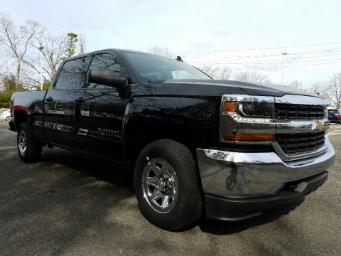 Black Chevrolet Silverado 1500 WT Crew Cab 4x4.  Click to enlarge.