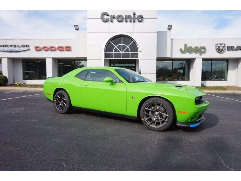 Green Go Dodge Challenger R/T Scat Pack.  Click to enlarge.