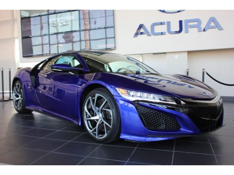 Nouvelle Blue Pearl Acura NSX .  Click to enlarge.