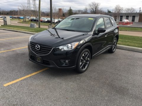 Jet Black Mica Mazda CX-5 Grand Touring.  Click to enlarge.