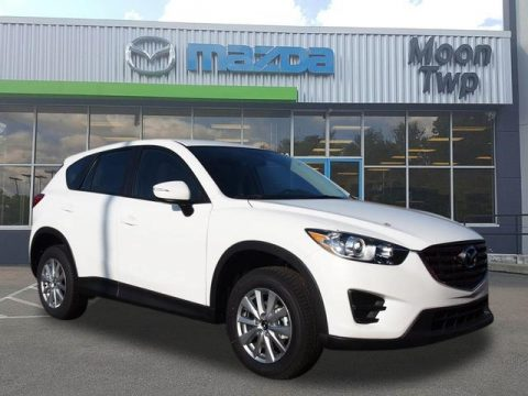 Crystal White Pearl Mica Mazda CX-5 Sport AWD.  Click to enlarge.