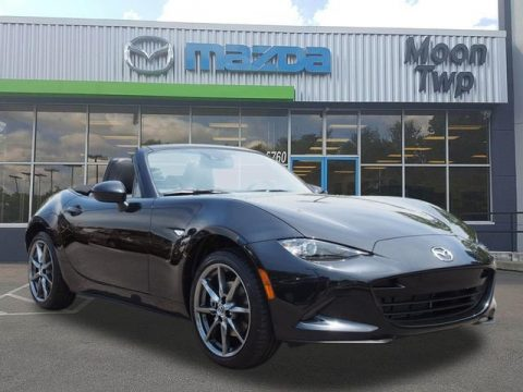 Jet Black Mica Mazda MX-5 Miata Grand Touring Roadster.  Click to enlarge.