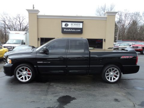 Black Dodge Ram 1500 SRT-10 Quad Cab.  Click to enlarge.