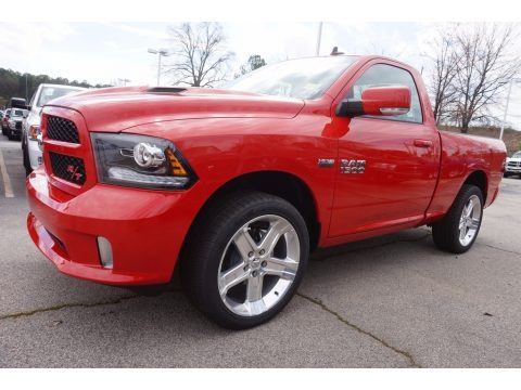 Flame Red Ram 1500 Sport Regular Cab.  Click to enlarge.