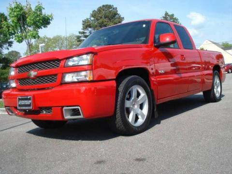 Victory Red 2003 Chevrolet Silverado 1500 SS Extended Cab with Dark Charcoal