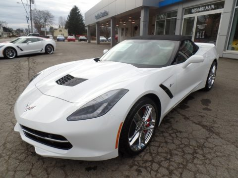 Arctic White Chevrolet Corvette Stingray Convertible.  Click to enlarge.