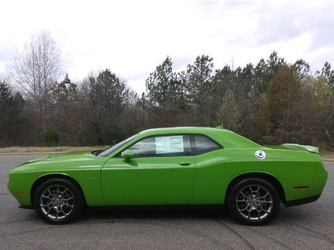 Green Go Dodge Challenger GT AWD.  Click to enlarge.