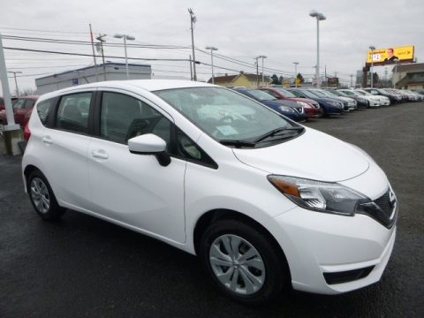 Fresh Powder White Nissan Versa Note S.  Click to enlarge.