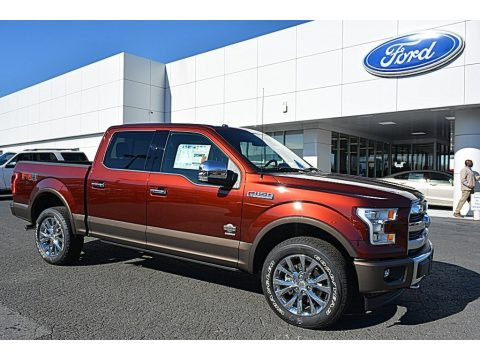 Bronze Fire Ford F150 King Ranch SuperCrew 4x4.  Click to enlarge.